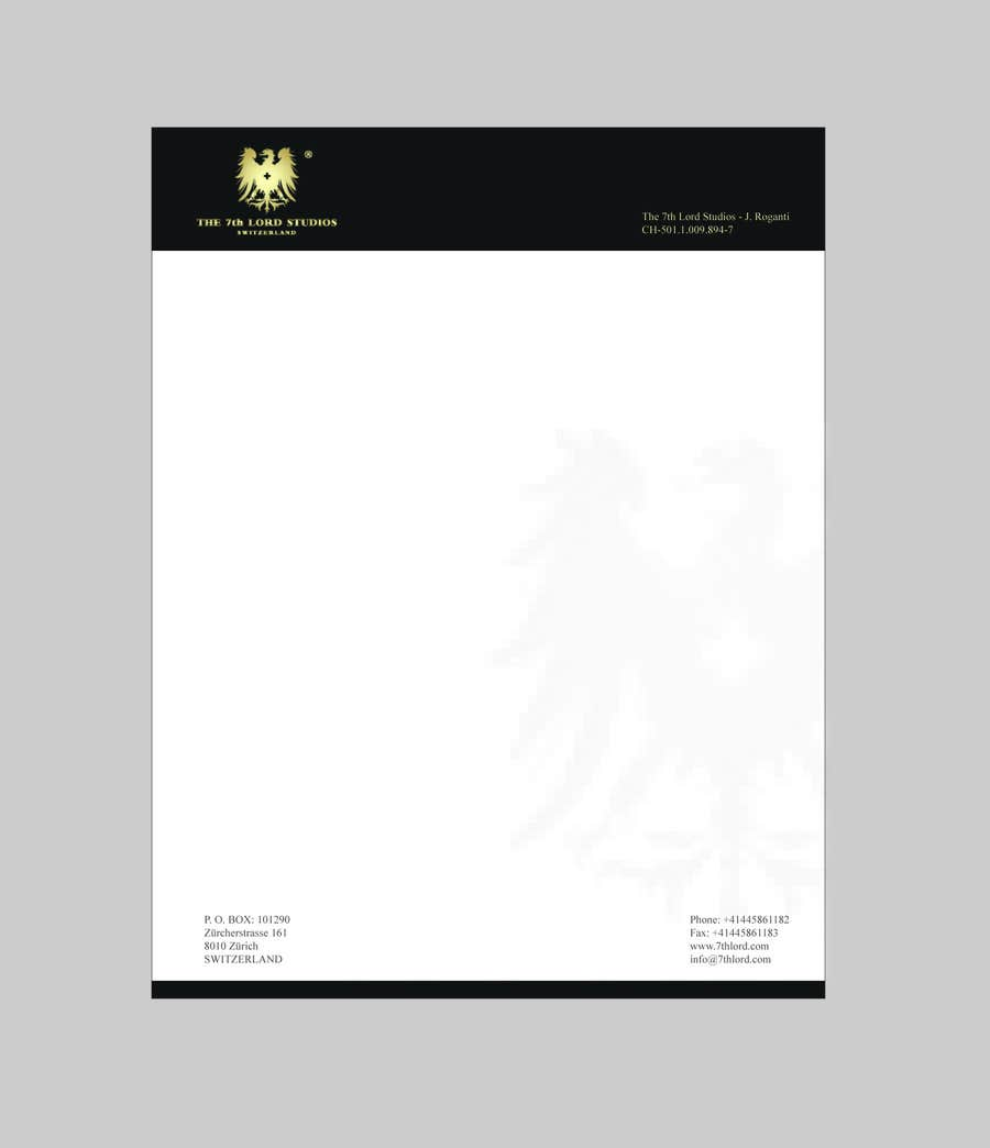 #2 for Letterhead paper for The 7th Lord Studios by LogoMass