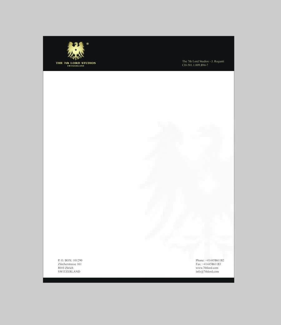 Kilpailutyö #2 kilpailussa Letterhead paper for The 7th Lord Studios