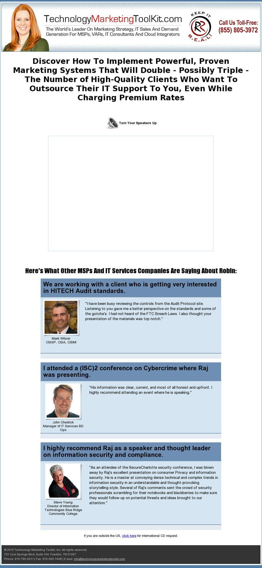 Kilpailutyö #4 kilpailussa Build a Website for ITSecurityConsultant.com