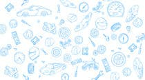 Contest Entry #9 for Illustrate website background & Footer Background for cars/bikes website