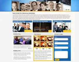 #3 para Front page for legal website por MagicalDesigner