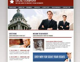 #8 for Front page for legal website by panafff