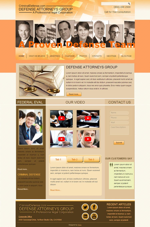 Kilpailutyö #5 kilpailussa Front page for legal website