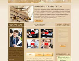 #7 for Front page for legal website af xahe36vw