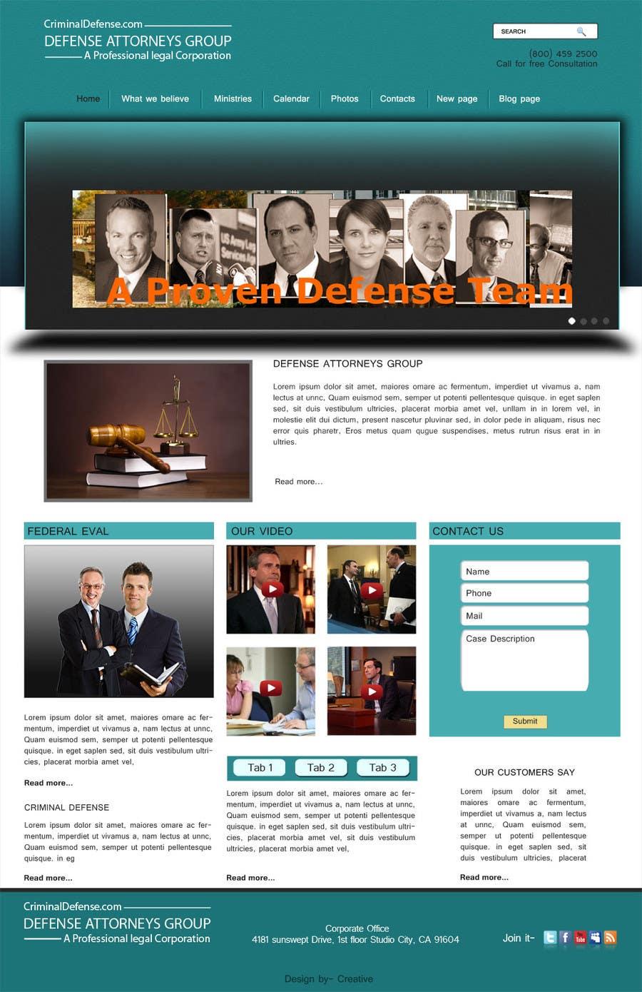 Kilpailutyö #12 kilpailussa Front page for legal website