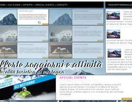 Nro 10 kilpailuun Disegnare la Bozza di un Sito Web for: offerte soggiorni (con attività) in località turistica di montagna käyttäjältä MonacoDesingn
