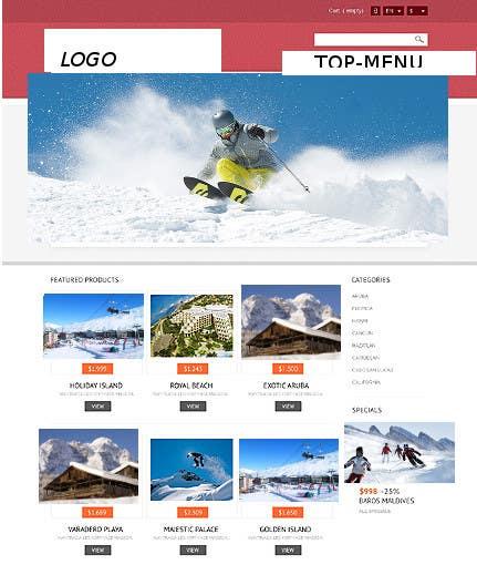 Bài tham dự cuộc thi #                                        7                                      cho                                         Disegnare la Bozza di un Sito Web for: offerte soggiorni (con attività) in località turistica di montagna