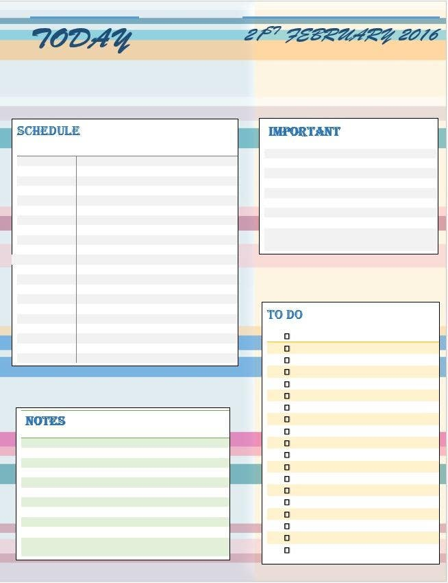 photo relating to Daily Planner Page named Accessibility #7 through ayesha35220 for Structure Everyday Planner Site (Term