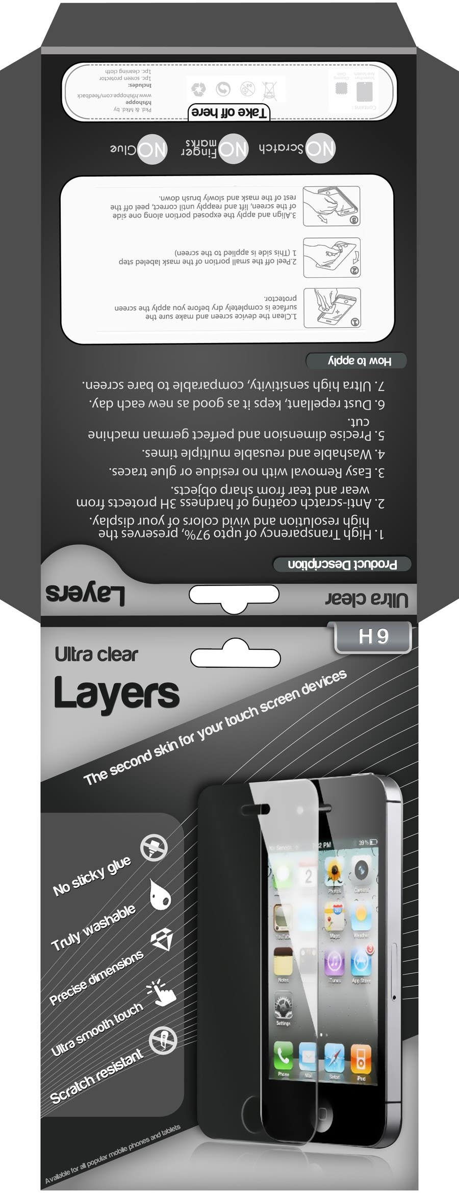 Bài tham dự cuộc thi #5 cho Need Print and Packaging Designs for screen protector brand