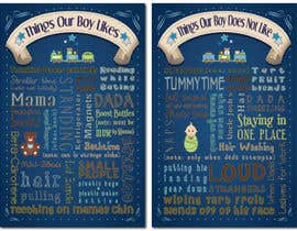 nº 10 pour Whimsical Nursery Posters - Text-Based (Text Provided) par KCale