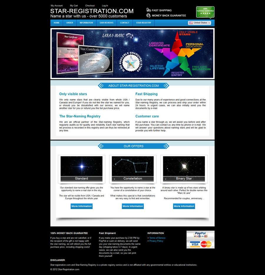 Proposition n°36 du concours Design a banner for a star naming website