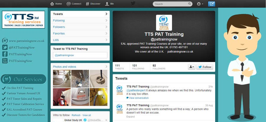 #5 for Design a Twitter background for me by hussamalzubaidi