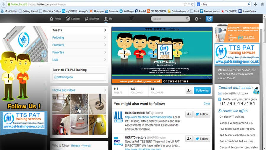 #7 for Design a Twitter background for me by kinarya