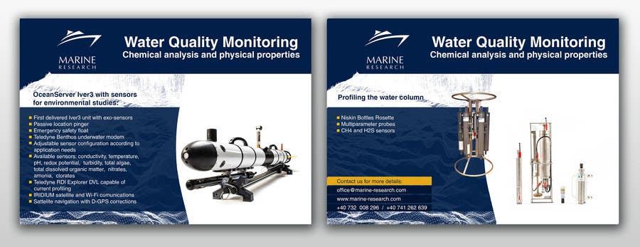 Конкурсная заявка №32 для Flyer for water quality monitoring devices