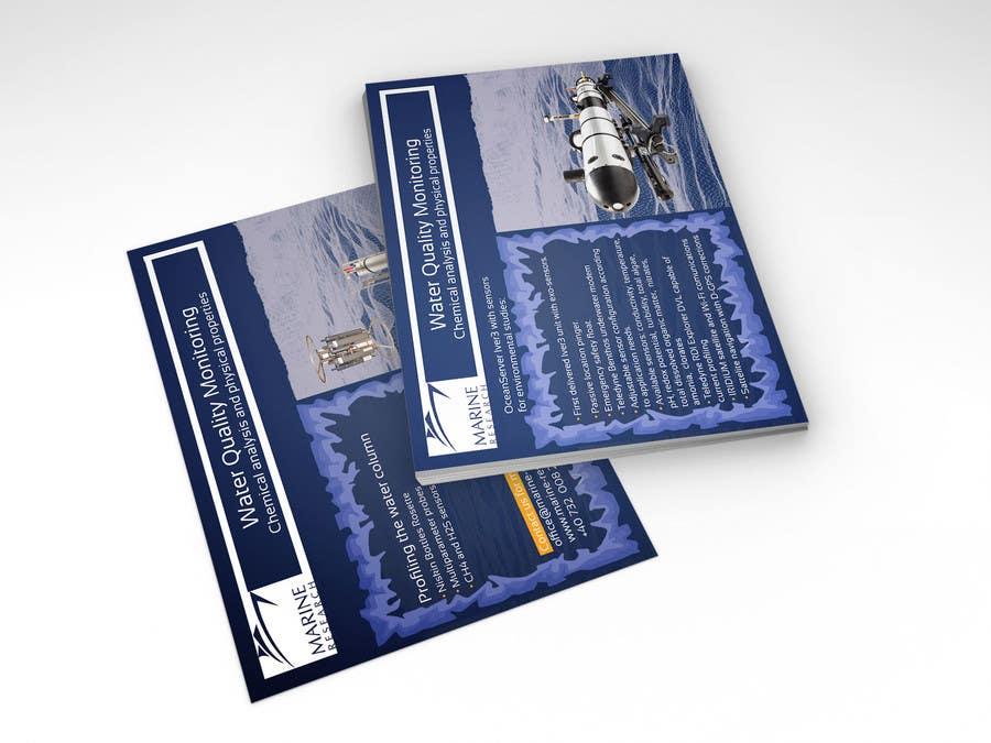 Конкурсная заявка №11 для Flyer for water quality monitoring devices