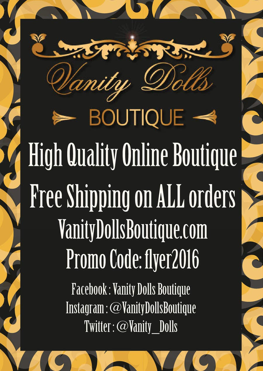 Contest Entry #                                        2                                      for                                         Online Clothing Boutique Flyer VANITY DOLLS BOUTIQUE
