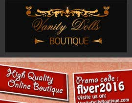 #4 for Online Clothing Boutique Flyer VANITY DOLLS BOUTIQUE by NoureddineAL