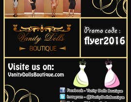 #6 for Online Clothing Boutique Flyer VANITY DOLLS BOUTIQUE by NoureddineAL