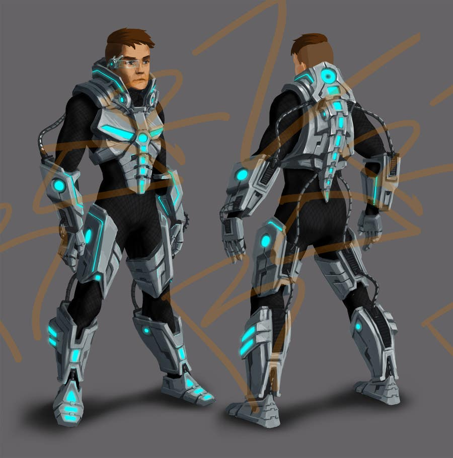 power suit space suit design freelancer