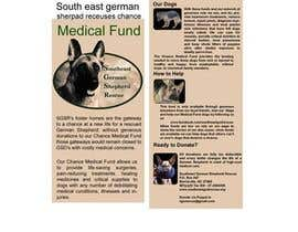 #7 for Design a Brochure for Southeast German Shepherd Rescue's Chance Medical Fund af poojark