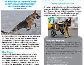 nº 8 pour Design a Brochure for Southeast German Shepherd Rescue's Phoenix Dog Program par MilicFamily
