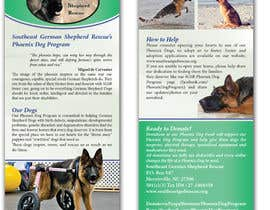 #6 for Design a Brochure for Southeast German Shepherd Rescue's Phoenix Dog Program af tmorozova69