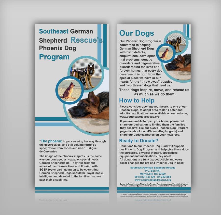 Inscrição nº                                         3                                      do Concurso para                                         Design a Brochure for Southeast German Shepherd Rescue's Phoenix Dog Program