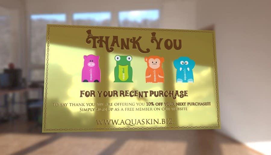 Konkurrenceindlæg #30 for Design a one side voucher for AQUASKIN...