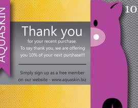 #10 for Design a one side voucher for AQUASKIN... af Aleshander
