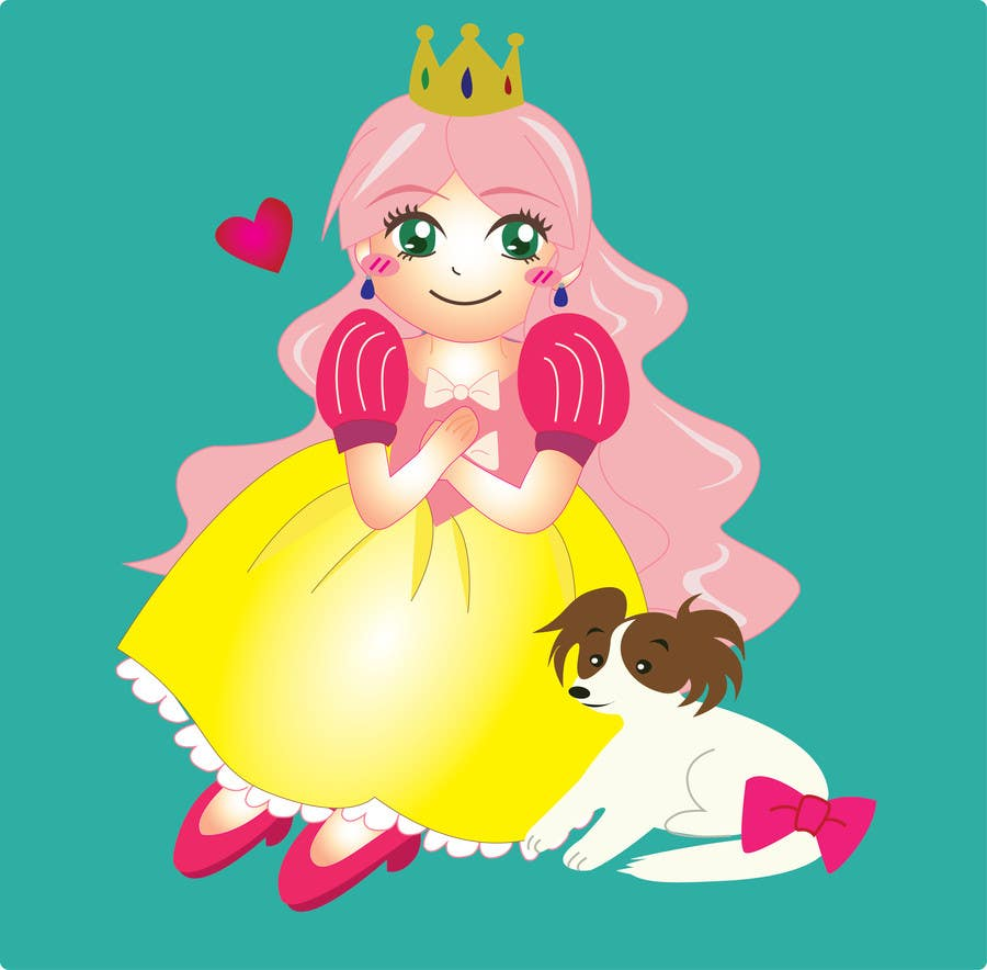 #34 for Illustrate a princess OR a vehicle by kikiko123