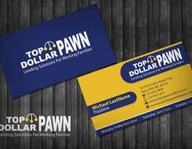 #191 untuk Business Card Design for Top Dollar Pawnbrokers oleh topcoder10