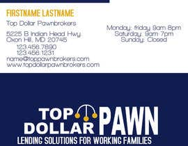 #125 pentru Business Card Design for Top Dollar Pawnbrokers de către JoleenC