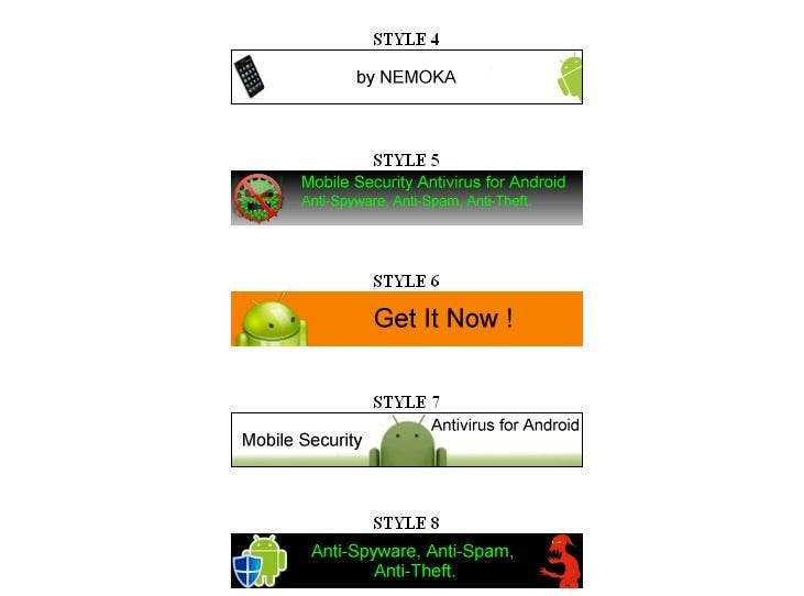 #16 for Design mobile banner for our Android Antivirus APP by nemoka