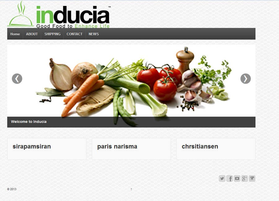 Contest Entry #4 for Improve inducia.com template