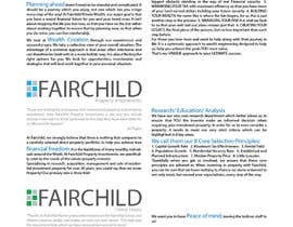 #25 for Design a Brochure for Fairchild Group af muhammadirman