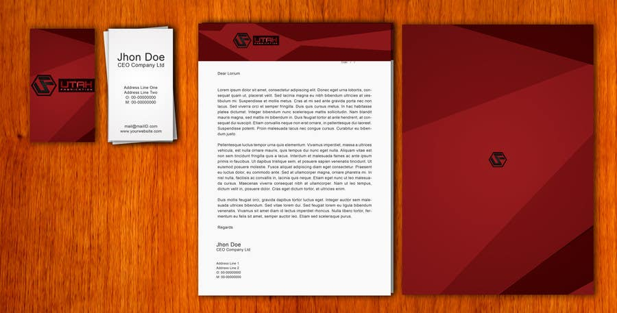 #1 for Design some Business Cards & Letterhead for Utah Fabrication by amitpadal