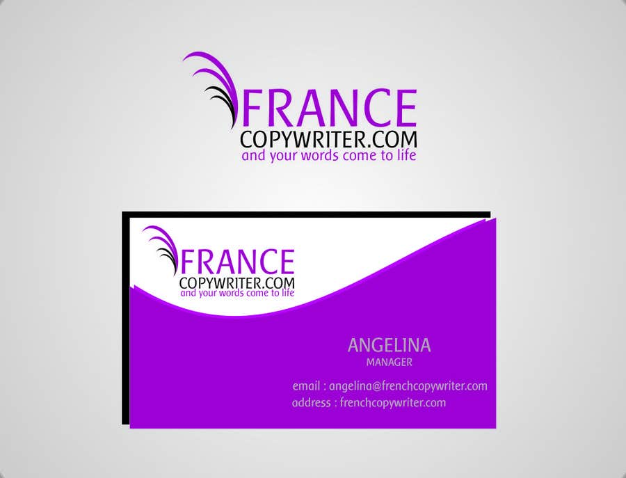 #42 for Require logo and business cards design for:  Francecopywriter (international logo) by eltorozzz