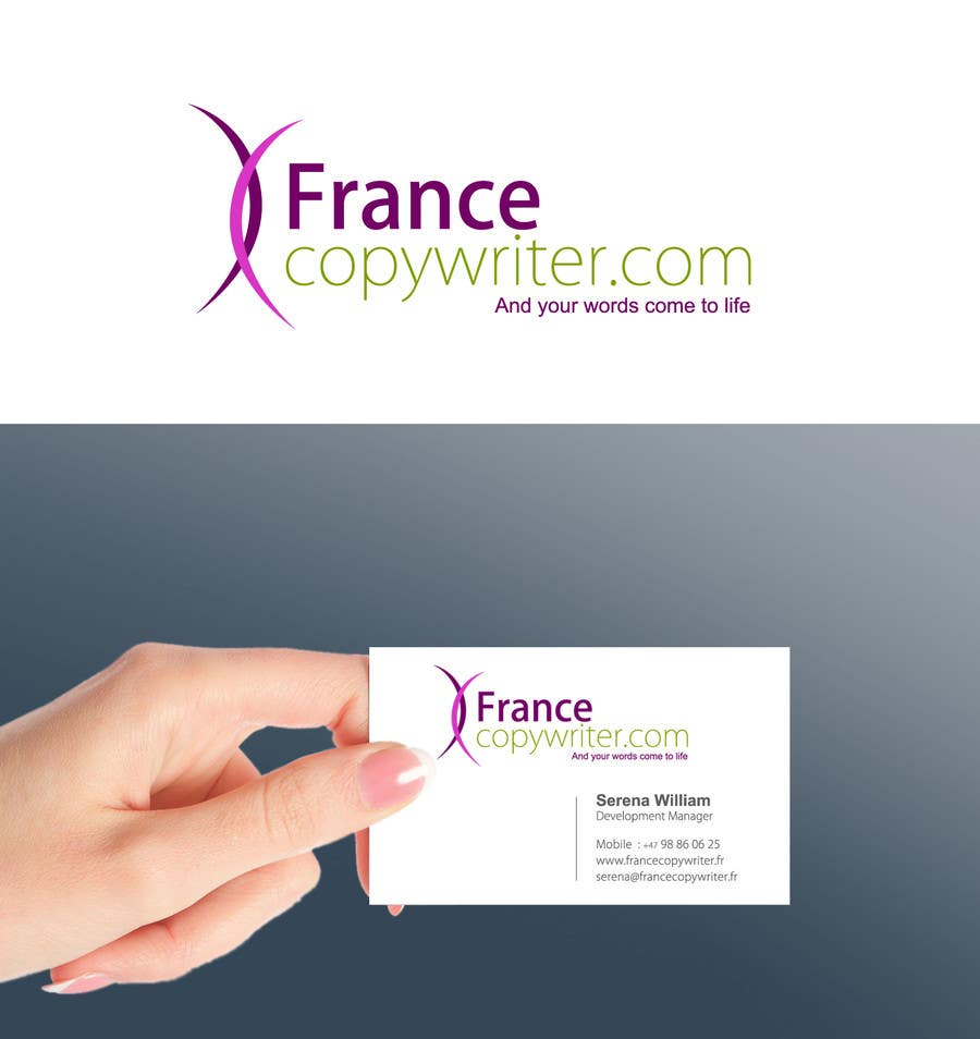 #55 for Require logo and business cards design for:  Francecopywriter (international logo) by smarttaste