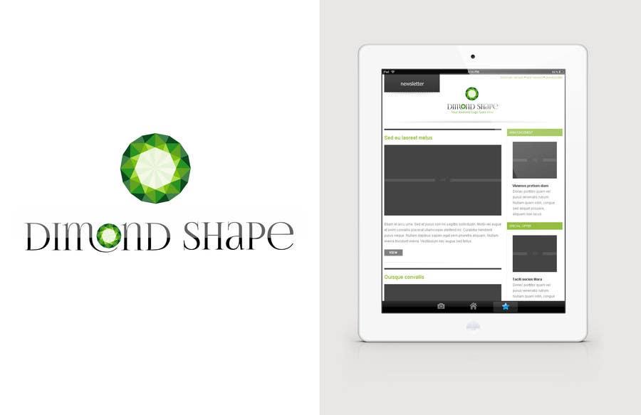Penyertaan Peraduan #32 untuk DiamondShape.com Logo & Header