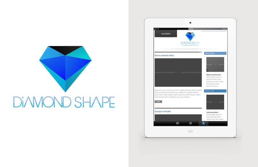 Inscrição nº 34 do Concurso para DiamondShape.com Logo & Header