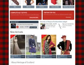 #2 cho HeritageOfScotland.com - online store graphic design. Functional mockup is ready. Probable job offer for three best designers. bởi kethketh