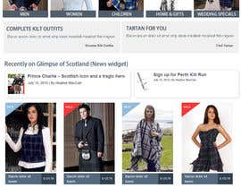 #13 para HeritageOfScotland.com - online store graphic design. Functional mockup is ready. Probable job offer for three best designers. por kethketh