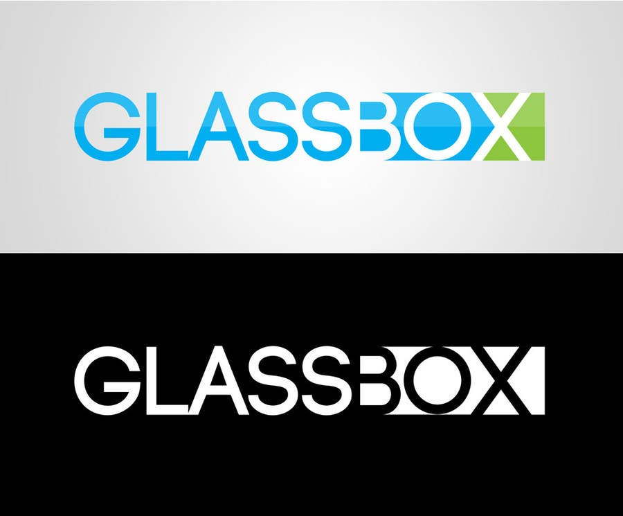 #324 for Clean & modern logo for the name GLASSBOX (international consulting biz) by dindinlx