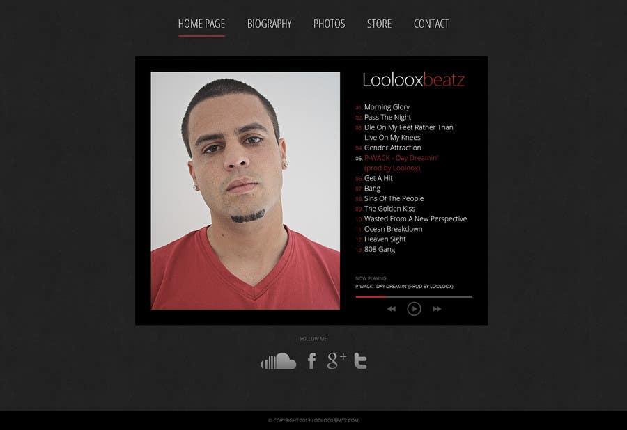 Kilpailutyö #11 kilpailussa Design a Website Mockup for Loolooxbeatz