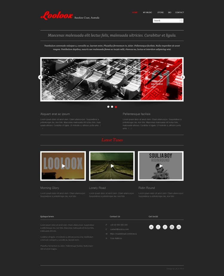 Kilpailutyö #17 kilpailussa Design a Website Mockup for Loolooxbeatz