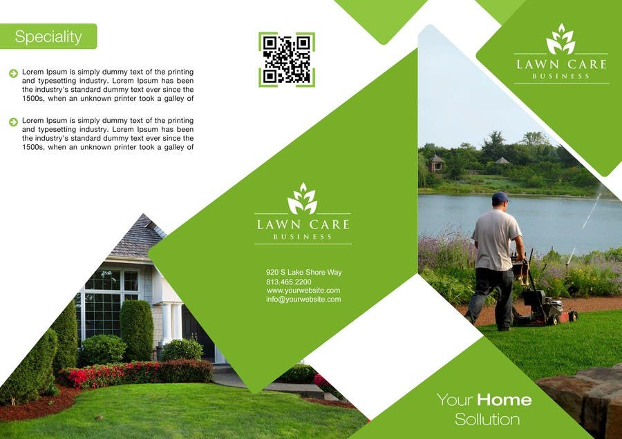 entry 16 by stylishwork for design a brochure for a lawn
