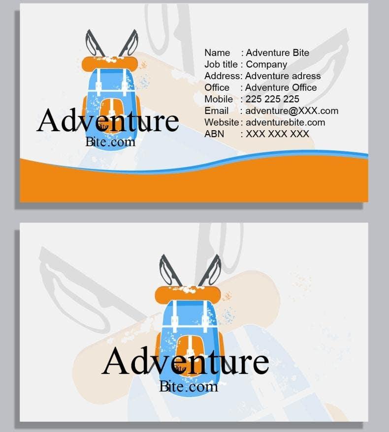 #7 for Design some Business Cards for AdventureBite.com by anhbd2719