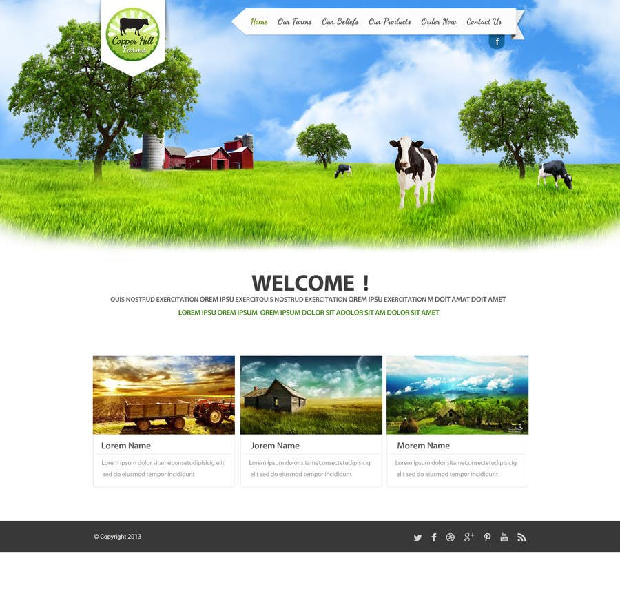 #12 for Design a Website Mockup for IslandFarming.com & Logo by SadunKodagoda