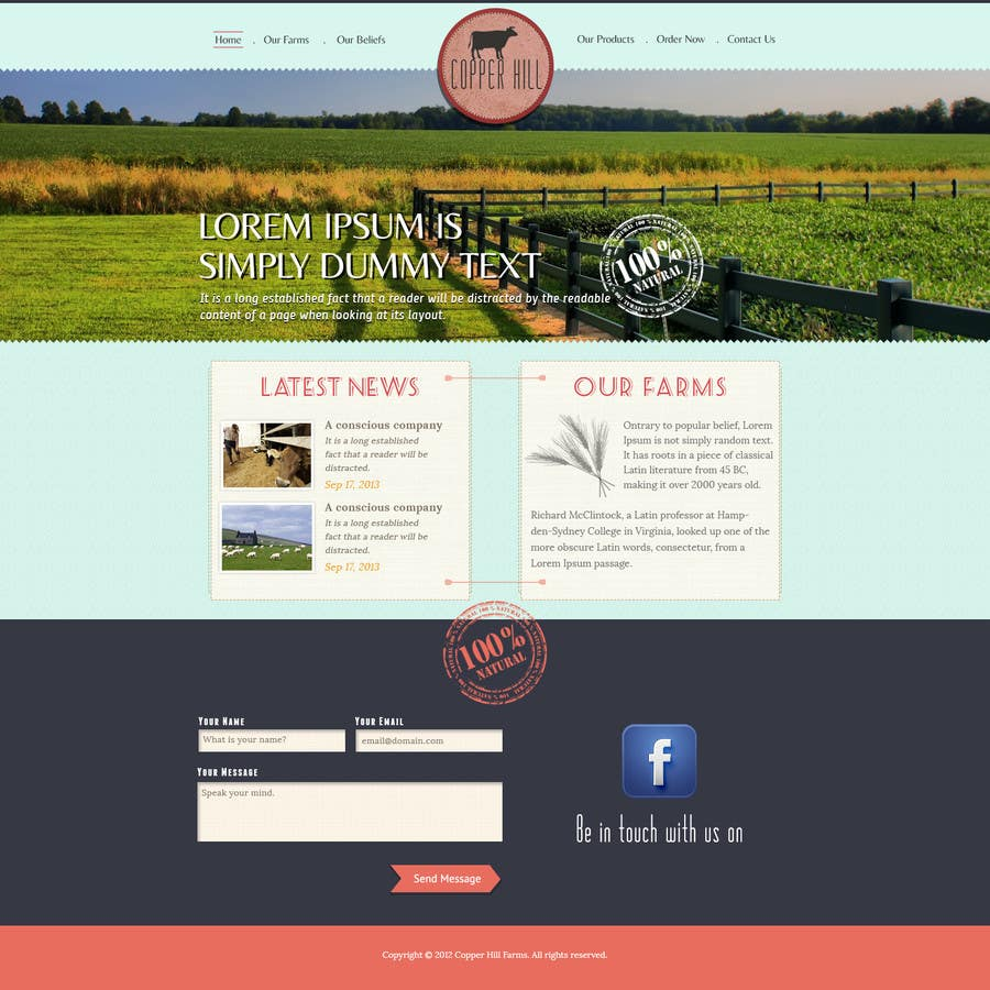 #24 for Design a Website Mockup for IslandFarming.com & Logo by thecwstudio