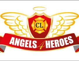 "#19 untuk Design a Logo for ""Angels for Heroes"" oleh swethanagaraj"